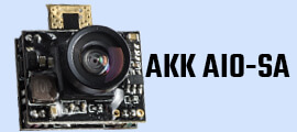 AKK AIO-SA 5.8GHz 25mW/50mW/100mW/200mW Switchable 40CH Micro AIO Camera Support Smart Audio for Drone Like Tiny Whoop Blade Inductrix etc