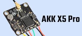 AKK X5 Pro 5.8Ghz 37CH 25mW/50mW/100mW/200mW Switchable FPV Transmitter.
